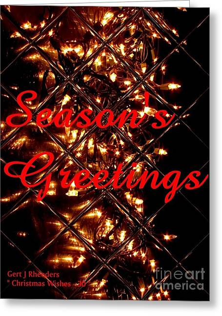 Cellphone Greeting Cards - Christmas Cards And Artwork Christmas Wishes 30 Greeting Card by Gert J Rheeders