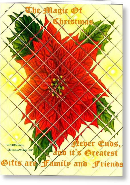 Cellphone Greeting Cards - Christmas Cards And Artwork Christmas Wishes 48 Greeting Card by Gert J Rheeders