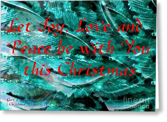 Cellphone Greeting Cards - Christmas Cards And Artwork Christmas Wishes 77 Greeting Card by Gert J Rheeders
