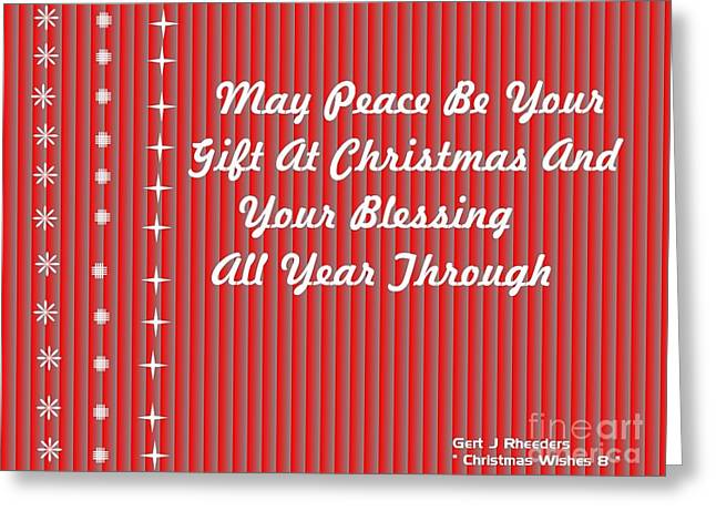Cellphone Greeting Cards - Christmas Cards And Artwork Christmas Wishes 8 Greeting Card by Gert J Rheeders