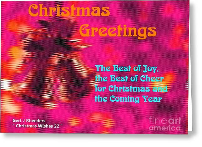 Cellphone Greeting Cards - Christmas Cards and Christmas Artwork - Christmas Wishes 22 Greeting Card by Gert J Rheeders