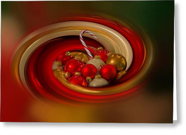 Christmas Cheer Greeting Cards - Christmas Cheer Greeting Card by Angie Vogel
