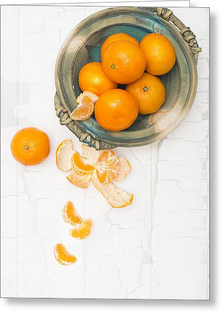 Segment Greeting Cards - Christmas Clementines Greeting Card by Amanda And Christopher Elwell