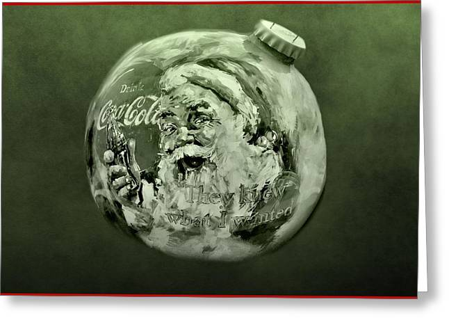 December Mixed Media Greeting Cards - Christmas Coca Cola Greeting Card by Dan Sproul