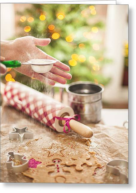 Copy Space Pyrography Greeting Cards - Christmas Cookies Greeting Card by Alexey Ivanov