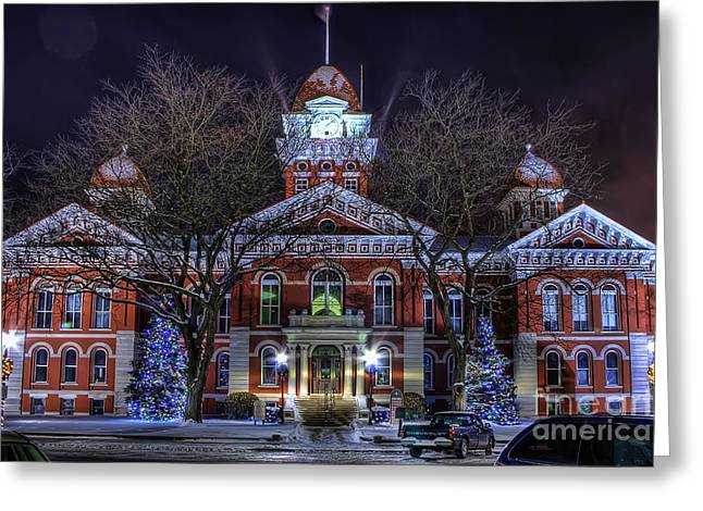 Christmas Courthouse Greeting Card by Scott Wood