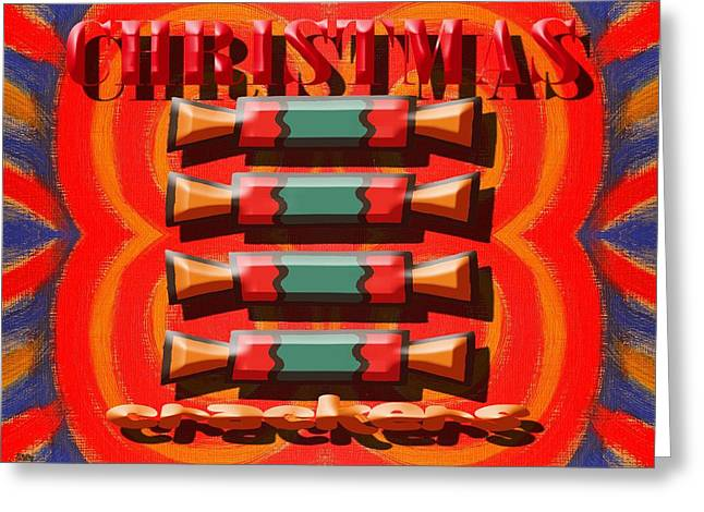 Hoodies Greeting Cards - Christmas Crackers Greeting Card by Patrick J Murphy