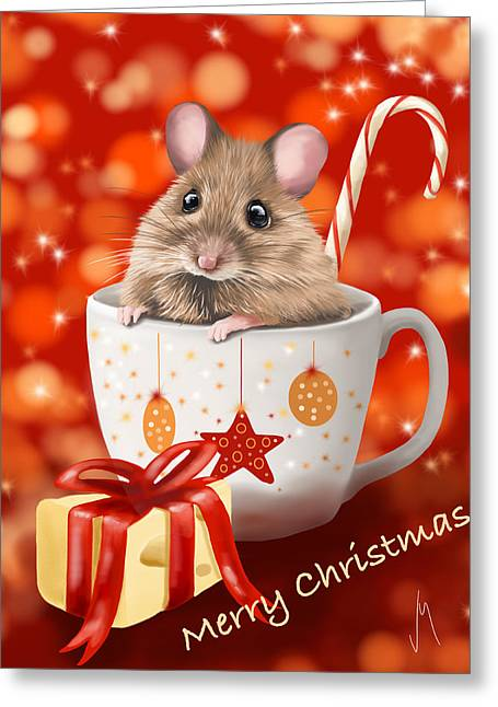 Present Paintings Greeting Cards - Christmas cup Greeting Card by Veronica Minozzi