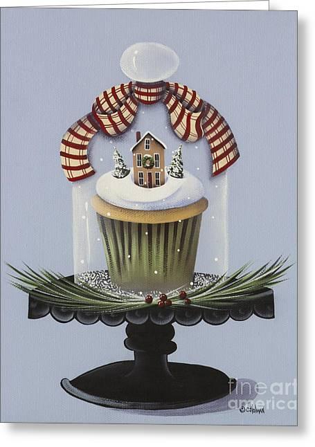 Catherine Greeting Cards - Christmas Cupcake Greeting Card by Catherine Holman