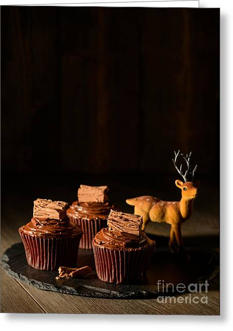 Chocolate Cake Greeting Cards - Christmas Cupcakes Greeting Card by Amanda And Christopher Elwell