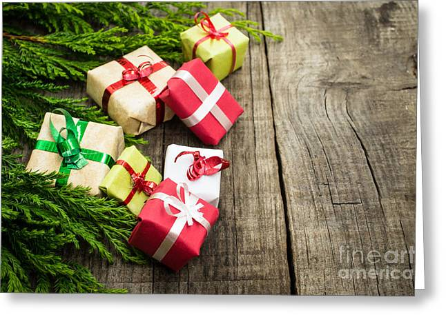 Surprise Greeting Cards - Christmas Decoration Greeting Card by Aged Pixel