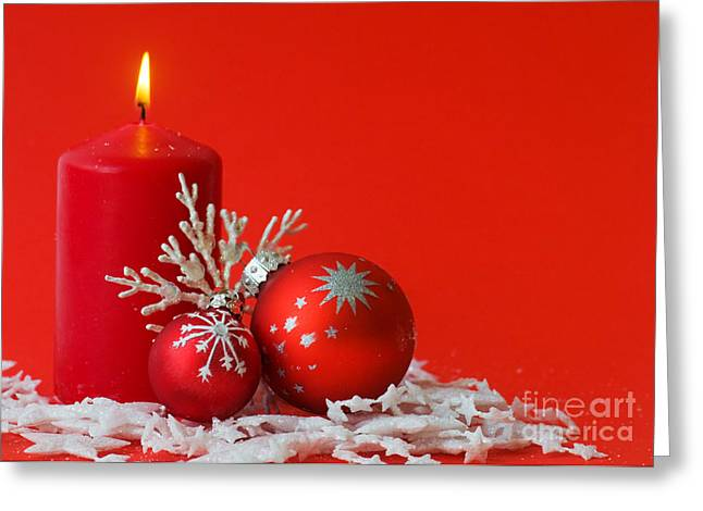 Christmas Decoration Background Greeting Card by Michal Bednarek