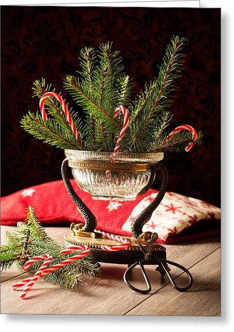 Gilt Greeting Cards - Christmas Decoration Greeting Card by Amanda And Christopher Elwell
