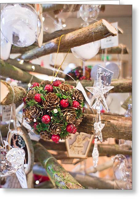Holly Berry Still Life Greeting Cards - Christmas decoration Greeting Card by Tom Gowanlock