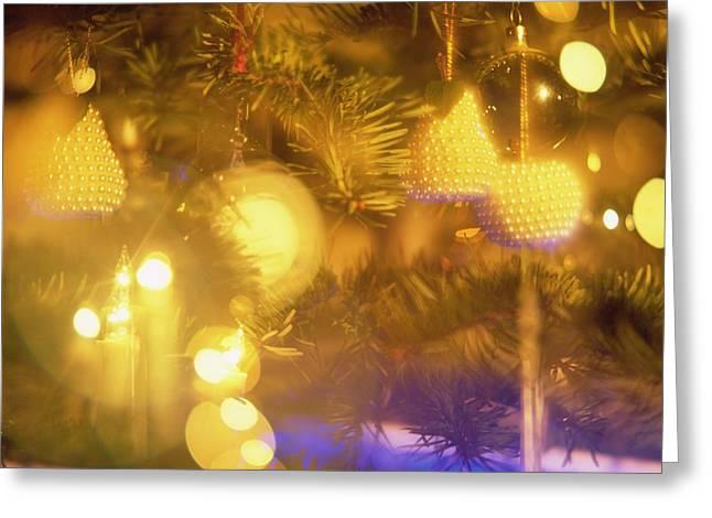 Tinsel Greeting Cards - Christmas Decorations Greeting Card by Robert Hallmann
