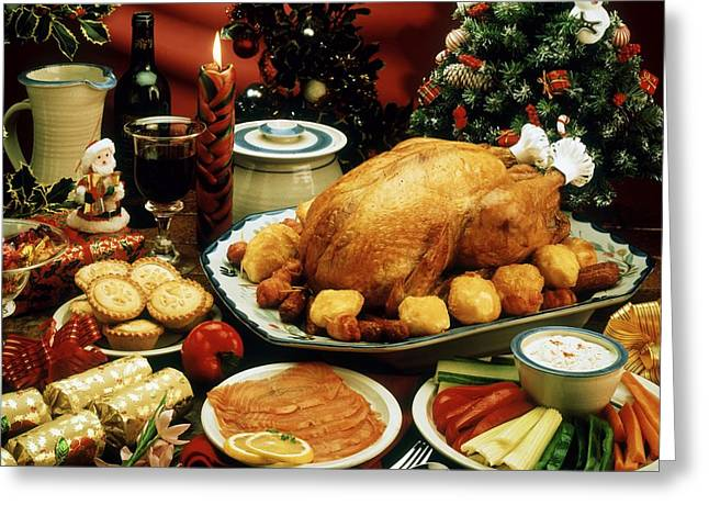 Indoor Still Life Greeting Cards - Christmas Dinner Greeting Card by The Irish Image Collection