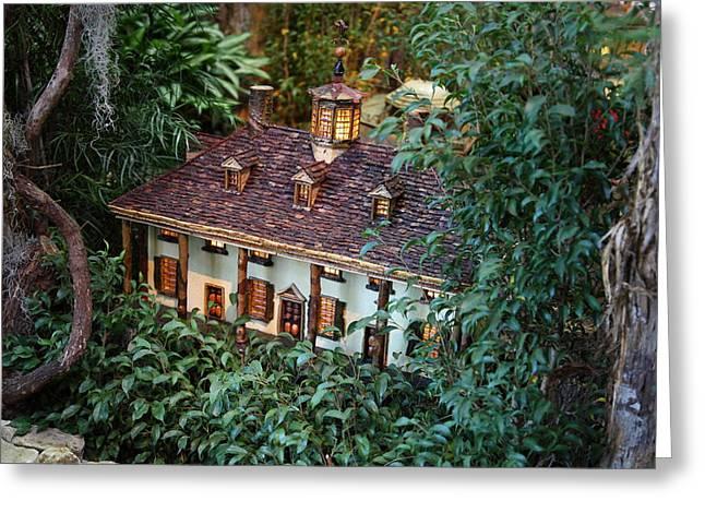 Christmas Display - US Botanic Garden - 011342 Greeting Card by DC Photographer