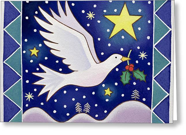 Christmas Dove  Greeting Card by Cathy Baxter