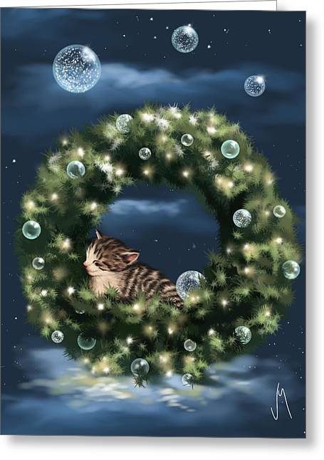 Digital Finger Greeting Cards - Christmas dream Greeting Card by Veronica Minozzi