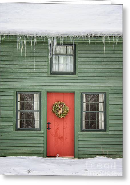 Christmas Doors Greeting Cards - Christmas Dreams Greeting Card by Evelina Kremsdorf