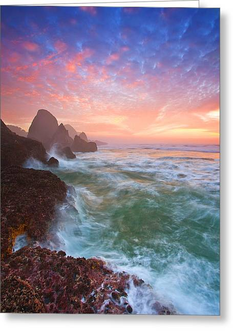 Stack Greeting Cards - Christmas Eve Sunset Greeting Card by Darren  White