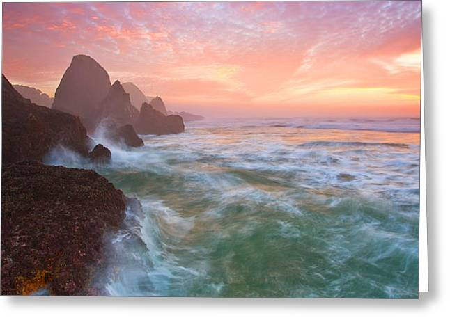 Christmas Eve Sunset Greeting Card by Darren  White