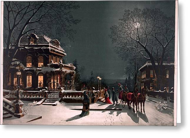 Christmas Eve Greeting Cards - Christmas Eve Greeting Card by Unknown