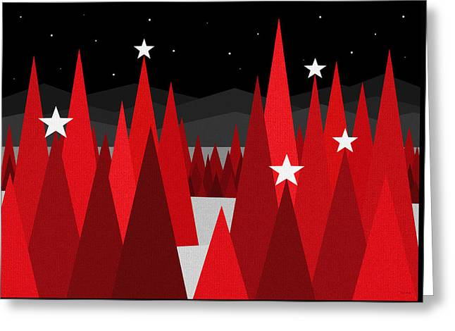 Christmas Eve Greeting Card by Val Arie
