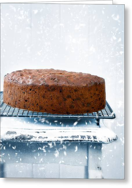 Rack Greeting Cards - Christmas Fruit Cake Greeting Card by Amanda And Christopher Elwell