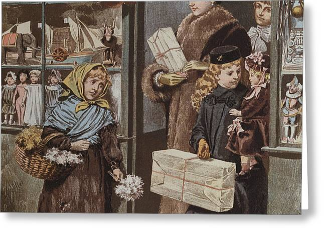 Christmas Gifts Greeting Card by Adrien Emmanuel Marie