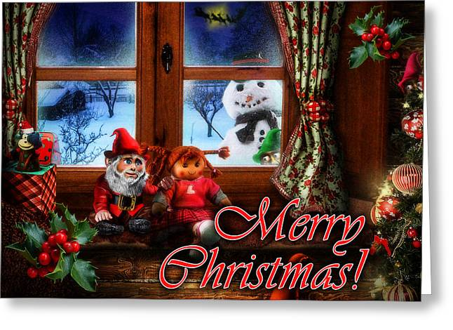 Cat Christmas Cards Greeting Cards - Christmas greeting card VI Greeting Card by Alessandro Della Pietra