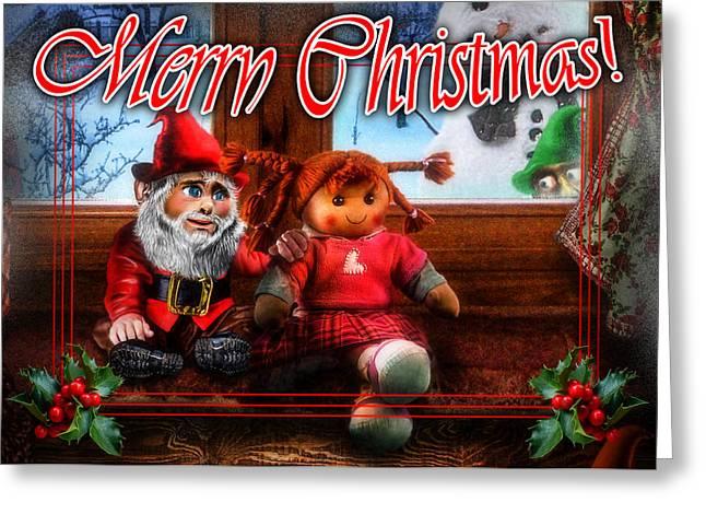 Cat Christmas Cards Greeting Cards - Christmas greeting card VII Greeting Card by Alessandro Della Pietra