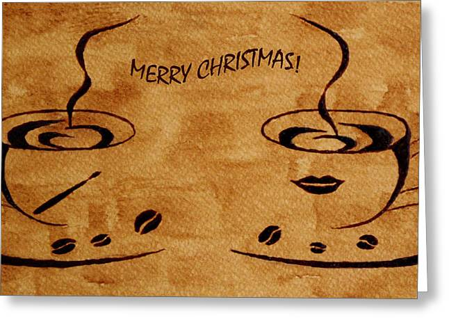Christmas Greeting Digital Art Greeting Cards - Christmas Greeting Greeting Card by Georgeta  Blanaru