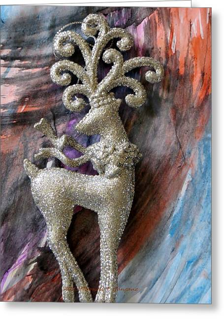 Rudolph Paintings Greeting Cards - Christmas Greetings card Greeting Card by Sonali Gangane