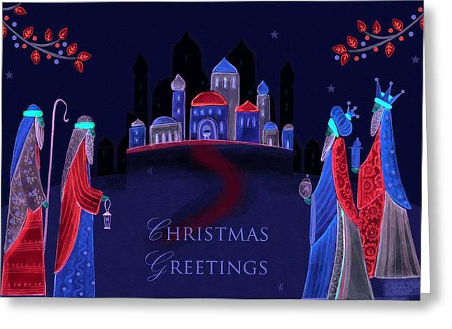 Christmas Greeting Photographs Greeting Cards - Christmas Greetings Greeting Card by Munir Alawi