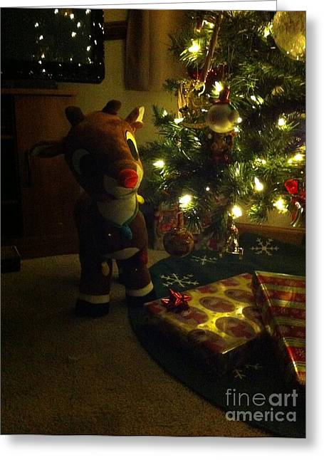 Rudolph Greeting Cards - Christmas Guest Greeting Card by Matthew Seufer