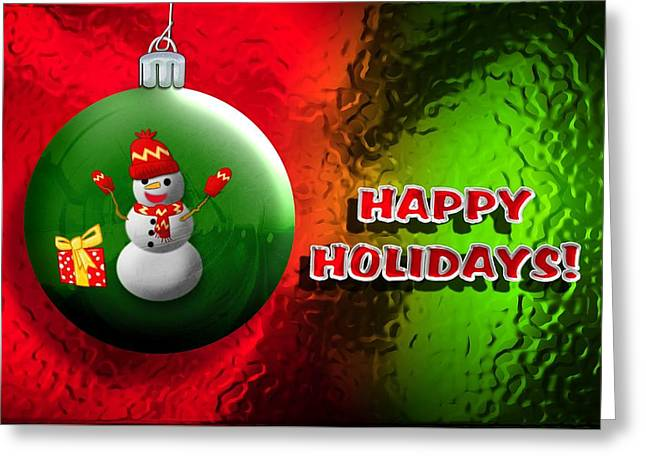 Christmas Art Greeting Cards - Christmas card Happy Holidays Greeting Card by John Wills