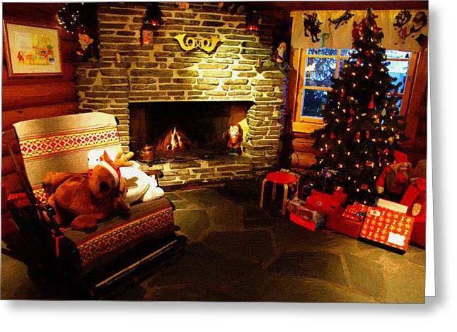 New Year Greeting Cards - Christmas Home Decor Greeting Card by Victor Gladkiy