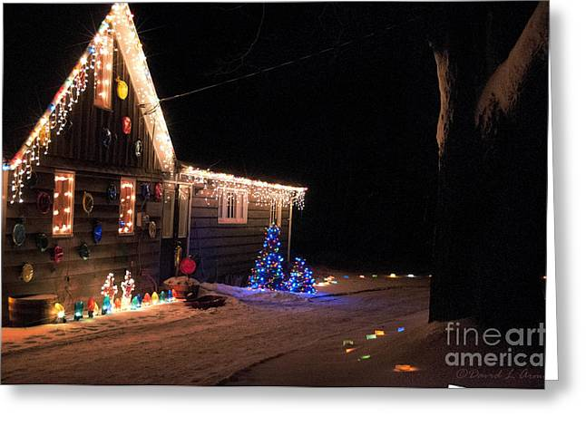 Decorated For Christmas Greeting Cards - Christmas House Greeting Card by David Arment
