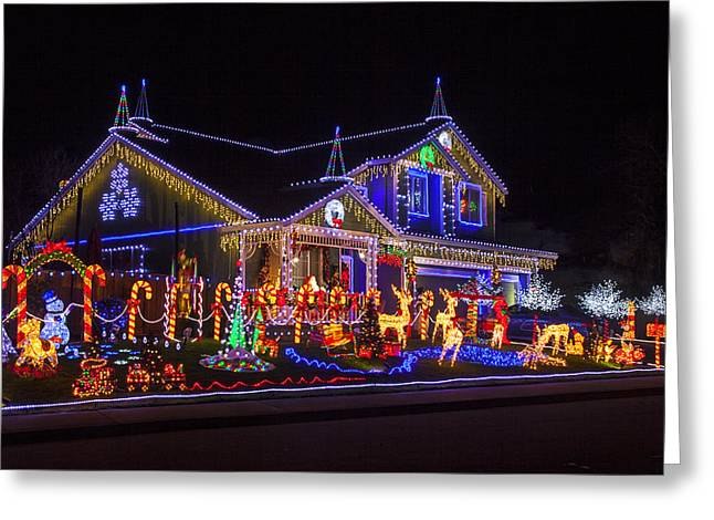 Christmas House Greeting Card by Garry Gay