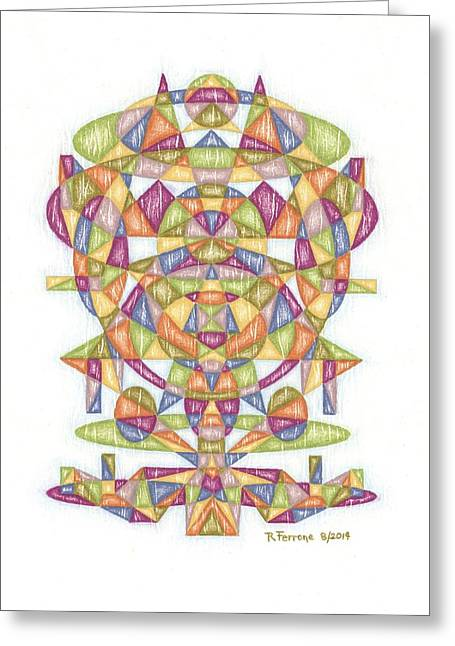 Sacred Drawings Greeting Cards - Christmas In August 2014 Matrix Greeting Card by Ruthie Ferrone