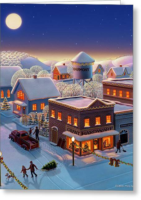 Christmas In Harmony Greeting Card by Robin Moline