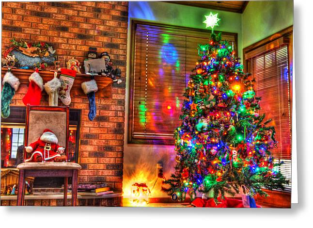 Christmas Cheer Greeting Cards - Christmas in HDR Greeting Card by Tim Buisman