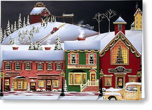 Catherine Holman Greeting Cards - Christmas in Holly Ridge Greeting Card by Catherine Holman