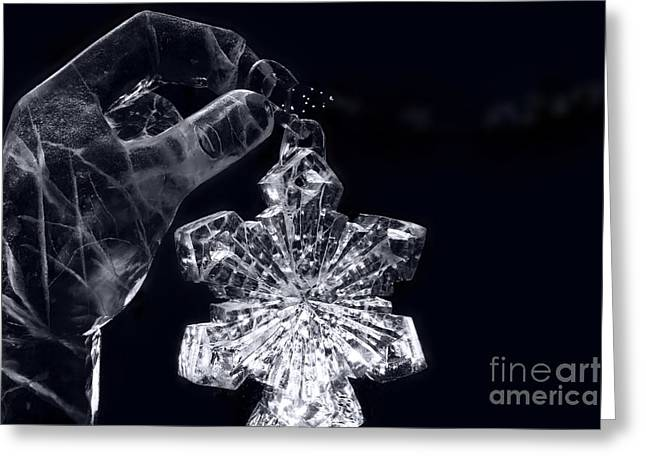 Life-size Greeting Cards - Christmas in Ice Greeting Card by Sharon Mau
