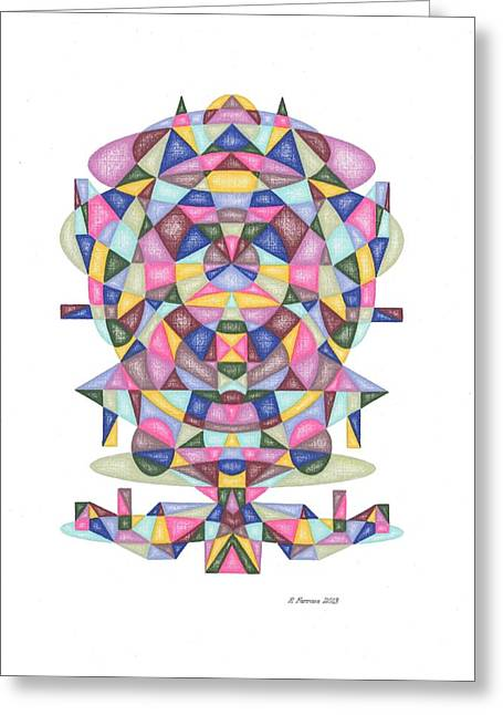 Sacred Drawings Greeting Cards - Christmas in November 2013 Matrix Series Greeting Card by Ruthie Ferrone