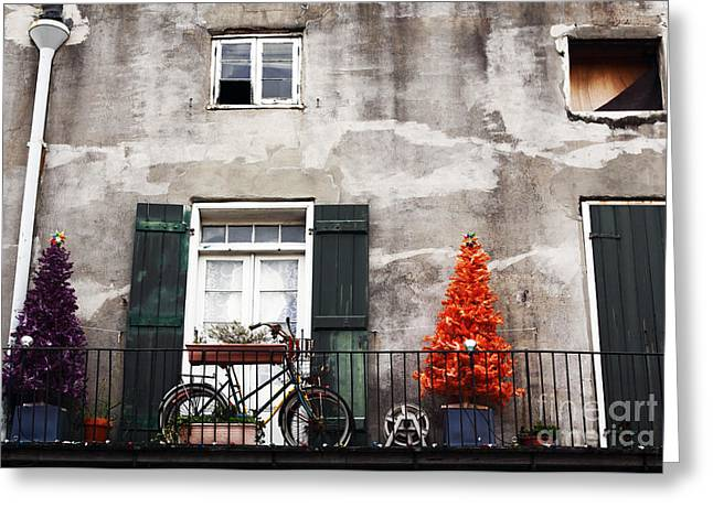 Christmas Posters Photographs Greeting Cards - Christmas in Orleans Greeting Card by John Rizzuto