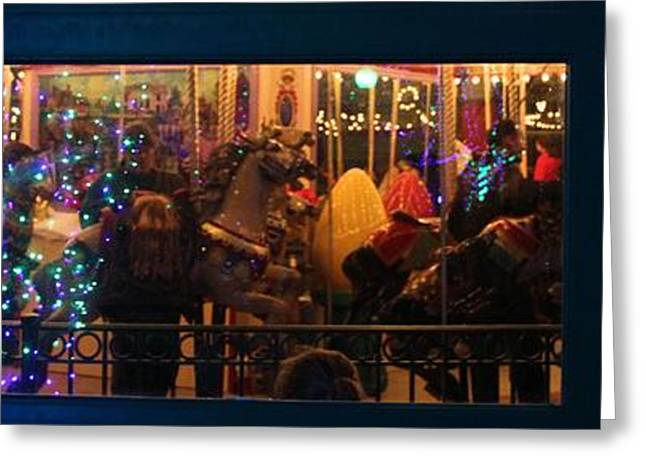 Christmas Eve Photographs Greeting Cards - Christmas In The Carousel Greeting Card by Dan Sproul