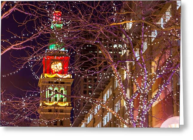 Christmas In The City Greeting Card by Teri Virbickis
