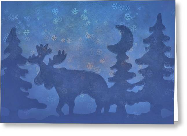 Christmas Eve Photographs Greeting Cards - Christmas In The Forest Greeting Card by Dan Sproul